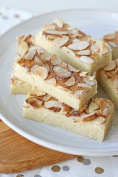 Almond Cookie Bars - Nutty, buttery and delicious!