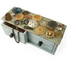 cute home made vintaj jewellery box