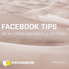 Facebook Tips for Photographers: Tip #4 – Offer Giveaways and Coupons - http://engage360.me/2014/03/27/facebook-tips-for-photographers-tip-4-offer-giveaways-and-coupons/  http://engage360.me