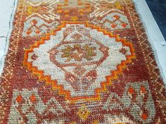 Small Persian Rug Teppich Tapis Vintage Miniature Persian Rug