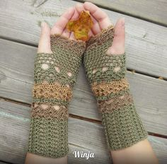 Crochet Fingerless Gloves, Knit Fingerless Gloves, Knit Hand Warmers, Mittens, woodland knit, Boho Knit Gloves, Arm Warmers, Knitted Gloves,