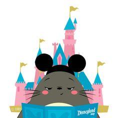 Totoro goes to Disneyland Disney Art, Disney Pixar, Disney Characters, Gif Totoro, Disneyland Map, Manga Anime, Pokemon, Ghibli Movies, Japanese Characters