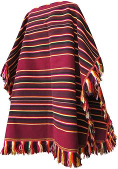 Tarabuco is a town and ethnic group on Sucre –Bolivia. They make this original poncho and you can find it at caserita.com