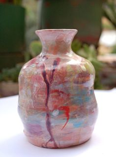 Ceramic vase, abstract pattern Esther Griffith