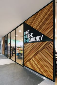 Port coogee newsagency retail shop in 2019 retail design, office interior d Office Interior Design, Office Interiors, Best Office, Small Office, Co Working, Shop Fronts, Environmental Graphics, Shop Front Design, Retail Shop