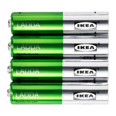 IKEA - LADDA, Rechargeable battery, The battery is ready to use.You can use the battery for all kinds of products, such as MP3 players, cameras, toys, clocks and remote controls.You can recharge the battery about 500 times, which is the equivalent of recharging it every other week for 20 years.
