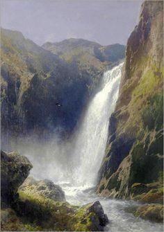 Voeringfoss, Hardanger - Hermann Herzog