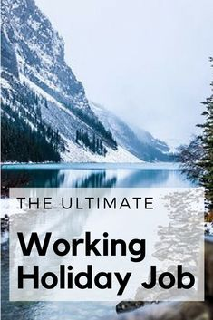 The Ultimate working holiday job / Working Holiday Tips / Working Holiday Canada / Working holiday Australia / Working Holiday Ideas / Working Holiday Fun / Working Holiday Budget Holiday Jobs, Holiday Ideas, Holiday Fun, Packing Tips For Travel, Travel Guides, Travel Advise, Travel Stuff, Budget Travel, Holidays Around The World