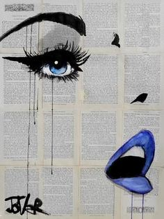Blue Lips Pop Art by Saatchi Art Artist Loui Jover; Newspaper Art, Art Prints Online, Desenho Tattoo, Art Plastique, Belle Photo, Love Art, Painting & Drawing, Amazing Art, Saatchi Art