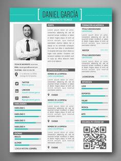 Descarga plantillas editables de Curriculum Vitae – CV visuales y profesionales - Fácil edición en Word y Pages | Servicios: Optimización de CV - CV Web