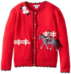Hartstrings Girls 2-6X Little Girl Sweater Cardigan with Equestrian Applique, Red, 4 Hartstrings,http://www.amazon.com/dp/B00D6BB3PQ/ref=cm_sw_r_pi_dp_rbjjtb1XG83TX50P