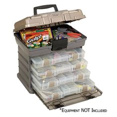Plano Guide Series™ Stowaway® Rack Tackle Box System - Graphite/Sandstone