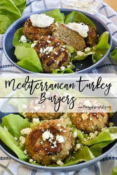 These simple yet delicious Mediterranean Turkey Burgers are the perfect lunch to make ahead for meal prep then enjoy later in the week! They're low carb and Keto friendly as well. The best part is that they freeze very well, so make a big batch and enjoy later on! Turkey Burger Recipes | Turkey Burgers | Turkey Burger Recipes Healthy | Turkey Burger Recipes Easy | Easy Healthy Lunch Ideas | Low Carb Recipes | Low Carb Dinner | Low Carb Dinner Recipes | Meal Prep Recipes | Freezer Meals Make Ahead Meals, Easy Healthy Dinners, Freezer Meals, Turkey Burger Recipes, Turkey Burgers, Lunch Ideas, Dinner Ideas, Delicious Recipes, Healthy Recipes