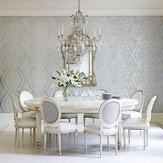 Wonderful Wall Coverings. Dining Room WallpaperWall ...