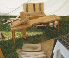 Shaving Horse - Homemade European-style shaving horse constructed from wood. Measures 4'-11