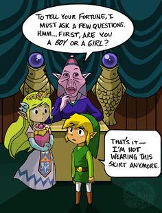 But It's Tradition by aquanut on deviantART | The Legend of Zelda: Spirit Tracks, Toon Link, Toon Princess Zelda, and the Fortune Teller