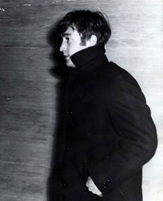In a black pea coat, John Lennon walks the halls of the Guidhall where their gig was postponed because Paul McCartney was ill, Beatles One, John Lennon Beatles, Great Bands, Cool Bands, Young John, Lennon And Mccartney, Dear John, Music Genius, People Of Interest