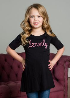 Lovely Dress Black, Dress, Top, Mommy and me, matching outfits, Short Sleeve Dress, Ryleigh Rue Clothing, Boutique, Fashion, Online Shopping, Online Boutique, Style, Fashion Blogger