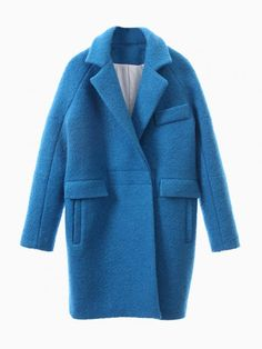 Just ordered this beaut! Blue Long Sleeve Lapel Ovoid Coat - from Sheinside.com - SO MANY cheap, amazing, on trend items!