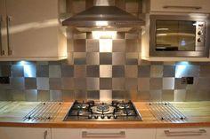 STAINLESS STEEL BACKSPLASH Modern, Contemporary Kitchen Look www.stainlesssteeltile.com