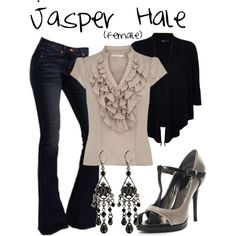 Jasper Hale (female) by accio-disney on Polyvore