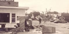 North Carolina 1954 aftermath of Hurricane Hazel