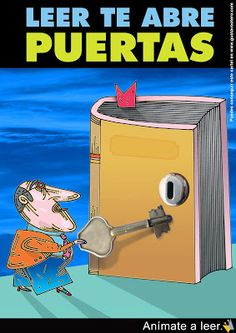 VERBO LEER: DÍA DEL LIBRO Spanish Jokes, Spanish Class, Learning Spanish, Reading Posters, Book Posters, Book People, Book Worms, Good Books, Teaching