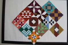 Farmer's Wife Quilt in solids -- looks amazing and so modern.