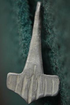 Ancient VIKING Silver PENDANT AMULET. The Hammer of God THOR, 1000 AD. Mjolnir | eBay