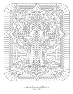 The second book in the Devotional Coloring series, Visual Scriptures is a faith-based coloring book for all ages. Creative souls will be inspired by spirit-lifting Bible verses accompanying detailed patterns and images for coloring that illustrate th. Quote Coloring Pages, Easter Coloring Pages, Doodle Coloring, Mandala Coloring Pages, Colouring Pages, Adult Coloring Pages, Coloring Sheets, Coloring Books, Religion Catolica