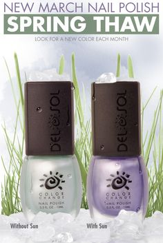 Get 'Spring Thaw' nail polish while it is available! Changes from Mint to Lavender in the sun!