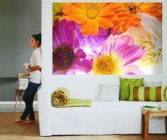 Açık Çiçek Resimli Duvar Kağıdı Poster