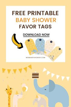 Want some cute and fun baby shower favor tags for your baby shower? Here are 8 FREE baby shower favor tags that will go well for your first baby shower or your baby sprinkle! Best Baby Shower Favors, Baby Shower Tags, Baby Girl Shower Themes, Baby Shower Fun, Fun Baby, Baby Shower Invitations, Shower Party, Second Baby Showers, Outside Baby Showers