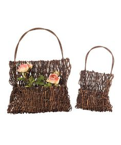Take a look at this Wall Basket - Set of Two by Wilco on #zulily today!