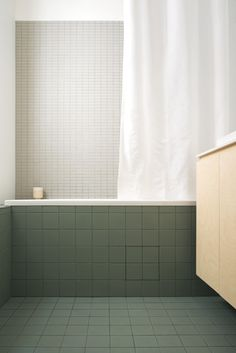 plywood furniture Refurbishement of a bathroom by architect Alexandre Mathoux - Brussels. Green and grey Winckelmans tiles. Quirky Home Decor, Gothic Home Decor, Eclectic Decor, Cheap Home Decor, Bad Inspiration, Bathroom Inspiration, Design Living Room, Living Room Decor, Decor Room