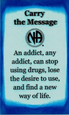An addict, any addict, can stop using drugs....