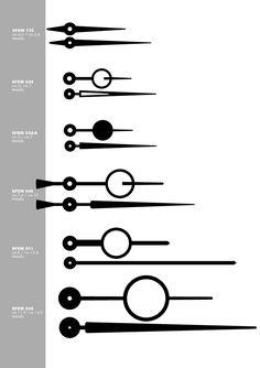 Lancette per movimenti orologi Contini Orologi