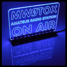 Your Call Sign in Lights! Custom Made For Your Ham Amateur Radio Shack by MW0TOX  found on eBay