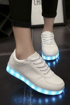 new arrival 3f87c 06473 Chic LED Shoes USB Charging Flat Heel Comfort Round Toe Fashion Sneakers  Zapatillas Con Led,