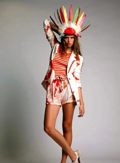 Sass and Bide shorts a must! Sass And Bide, Pow Wow, Headdress, Our Love, What I Wore, Fashion Brands, Style Me, Captain Hat, Hipster
