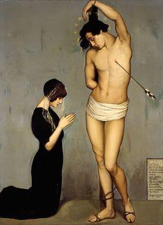 """Votive Offering"" (Saint Sebastian) by Ángel Zárraga"