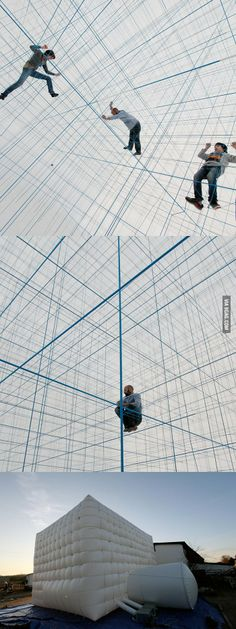 A Massive Inflatable String Jungle Gym