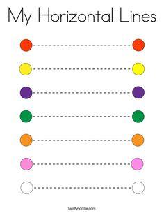 My Horizontal Lines Coloring Page - Twisty Noodle Line Tracing Worksheets, Color Worksheets For Preschool, Nursery Worksheets, Preschool Writing, Numbers Preschool, Preschool Learning Activities, Kindergarten Worksheets, Writing Worksheets, Tracing Lines