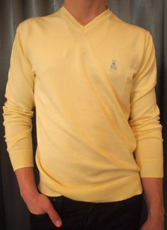 Psycho v-neck sweaters $215 from Gotstyle Menswear.