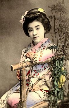 A 100-year-old hand colored collotype photo by an unknown Japanese photographer. Okinawa Soba, via Flickr