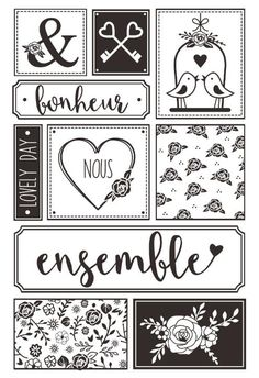 Love Effacer Timbres Scrapbook Paper Craft timbre Clair scrapbooking X0018 Scrapbook Stickers, Scrapbook Paper Crafts, Planner Stickers, Paper Crafting, Album Photo Scrapbooking, Scrapbook Albums, Scrapbooking Vintage, Bullet Journal 2020, Mini Albums Scrap