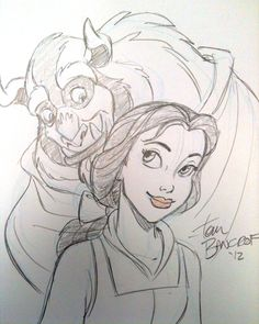 Beauty and the Beast sketch by *tombancroft