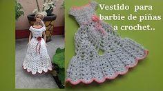 vestido de piñas para Barbie a crochet (parte 1) norma y sus tejidos norma y sus tejidos - YouTube