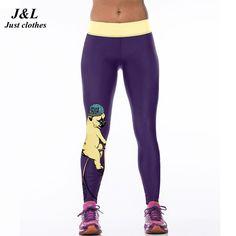 J&L Hot Sales! 3D Print Sports Leggings Women Skull Girl Birds Printed Fitness Leggings Fashion 22 Styles Gym Clothing For Women