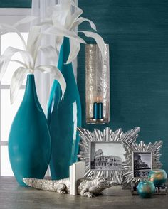 Cerulean: this combination of deep blue and green is inviting and cool with an exotic influence. Get more colorful inspiration: